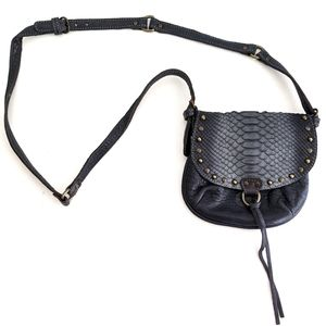French real leather crossbody